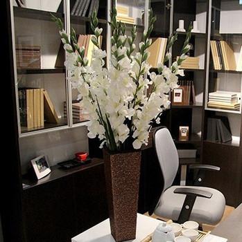 Free Shipping Stunning Gladiola Gladiolus Sword lily Decoration Flower Artificial Flowers Wedding Flower Home Hotel Coffee Shop