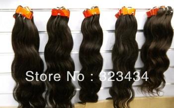 "gs hair brazilian body wave virgin hair 16""18"" 20"" 22""24""26"" 28"" 60g/pc 300g/lot color 1b,2# 4#  free shipping"