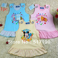 1pc wholesale cartoon princess straps of lace skirt cotton short skirts in summer  Children's skirt dress