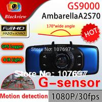 "GS9000 Car DVR Ambarella A2S70 Full HD 1080P 170 degrees 2.7"" LCD Vehicle Camera Driving Recorder G-Sensor GPS logger Dash Cam"