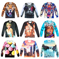 SALE!! 2013 Fashion Women/men print tiger/leopard space Galaxy hoodies sweatshirts virgin panda 3d sweaters top freeshipping