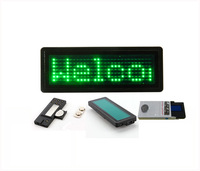 Green  LED name badge sign board/scrolling advertising business card show display support English,EU languages Pixel 7X29