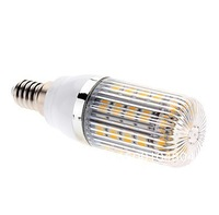 Free shipping 6pieces/lot  led E14 E27 7W 36x5050 SMD 2700-3200K Warm White and Natural White Light LED Corn Bulb (85-265V)