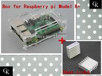 Pi case  100% Brand new ,Factory price Pi Box for Raspberry Pi model B plus +2 pcs pure aluminum heat sink set kit BT0031-RP
