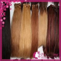 100% human russian hair straight weave extension1b #1 #2 darkest brown #4 dark brown #27 honey blonde #613 blonde Forawme