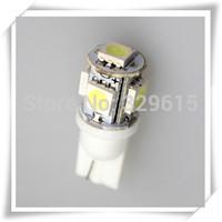 [Promotion] 10pcs car LED Lamp T10 W5W 194 5050 SMD 5 LED White All For Auto Interior Led Light Bulbs 12V