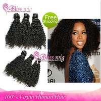 6a Virgin Malaysian Virgin Hair Bundles100% Unprocessed Kinky Curly Cheap Human Hair Weaves Remy Hair Weft 3pcs/lot Wholesale