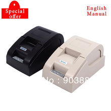 New mini 58mm thermal receipt printer ticket pos 58 USB(black/white)Wholesale and retail(China (Mainland))