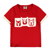 2014 children's short sleeve t-shirts for girls and boys mouse t shirt summer wear kids shirt outwear