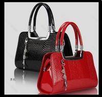 2015 New Crocodile elegant handbag women leather tote bag in totes brand fashion bag women lady Sfactory sale