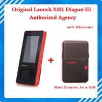 Mini Printer As A gift !!!Global Version Launch X-431 Diagun III Original x431 diagun III auto scanner update via launch site