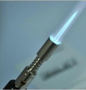 Honest Adjustable Flame Butane Jet Torch Lighter , multi-function green flame windproof jet lighter without