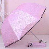 Lace elargol strengthen protection sun umbrella anti-uv princess  rain umbrella Free shipping !!!
