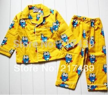 Cotton Set! Giggle and Hoot boy boys children yellow flannel flannelette winter pyjamas pajamas sleepwear Pjs