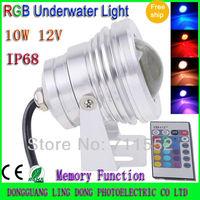 Wholesale 5pcs/lot 10w LED RGB Underwater light 12V Waterproof IP68 rgb led Flood light Car light fog lights with Convex Glass