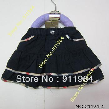 Wholesale 2013 new sell girls cotton skirt Kids beige plaid grid skirt Baby skirt Children khaki grid mini skirt 6 colours 21124