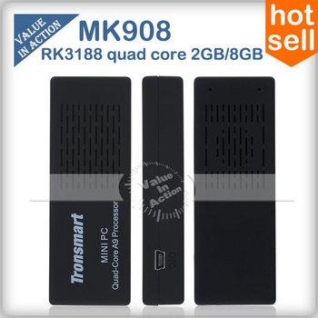[In Stock] Tronsmart MK908 RK3188-T Quad Core TV Stick Smart Android 4.2.2 TV Box 2GB RAM  Built-in Bluetooth IPTV Mini PC