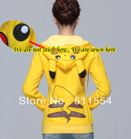 Free Shipping To Most Country New Japan Fashion Anime Cool Pokemon Pikachu Computer Embroidery  Hoodie Cosplay Costume Clothes
