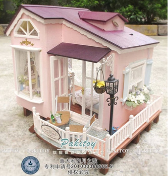 DIY High Clay Technic Furniture Pakitoy Wooden Model Toy Miniature Doll House Toy Christmas Gift Dollhouse - Honeymoon in Italy