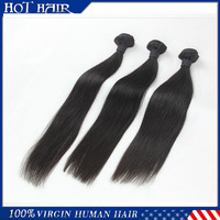 Virgin brazilian hair straight Grade AAAAA 3 PCS a lot  natural color