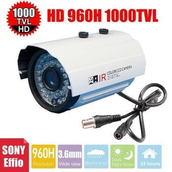 Vanxse CCTV Sony Effio CCD 960H/1000TVL Security Camera 36IR CCTV bullet HD camera 3.6mm outdoor Surveillance Camera