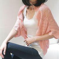 2014 summer cutout lace crochet sleeve waistcoat cardigan loose sweater female coat jacket cardigan for women WC0187