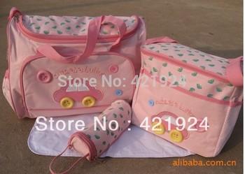 Free shipping Mummy package car 3 color combinations functional diaper bags designer baby bag diaper fashion diaper bag handbags