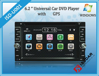 Two Din 6.2 Inch Universal Car DVD Player With Bluetooth IPOD Analog TV FM USB SD Digital Touch Screen Steering Wheel Control