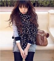 2014 New fashion spring summer women's scarves chiffon scarf cat print animal pashmina shawl wholesale