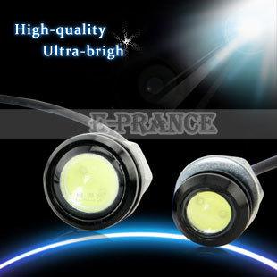 2pcs/lots New Eagle Eye Light  LED Car Tail Light Power Led Lens Back Up Car Lamp  For Camry And More  Free Shipping OT25