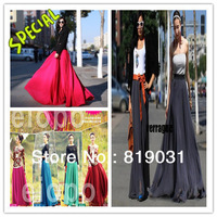 HOT SALE ! wholesale  Free shipping 2013 new design skirt women's fashion bust skirt summer chiffon skirt maxi skirt
