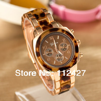 Fashion Mens Brand watch Military watches Geneva watch Women Leopard print bracelet watches with 3colors-EMSX61005