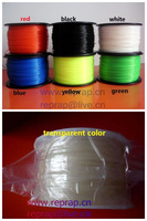 Makerbot/reprap/mendel/UP 3D printer PLA1.75mm 1kg(2.2lb) filaments  multicolor