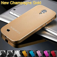 0.04KG Ultrathin Aluminum Case For Samsung Galaxy S4 I9500 Luxury Champagne Gold Silver Black Free Screen Protector OYO