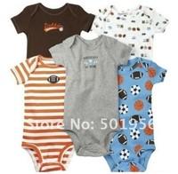Cotton baby romper jumpsuitsgirl boy  wear 5 pcs/lot for 0-24 M infant