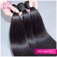 Ali POP Hair malaysian virgin hair straight 3pcs lot ,5A malaysian virgin hair extension color natural black,#2,#4 human hair