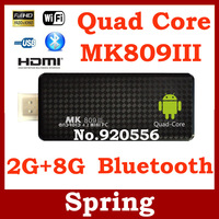 2013 Newest TV BOX MK809 III Rockchip RK3188 Quad Core Cortex A9 MK809III MINI Android 4.2 PC TV Stick 2GB RAM 8GB ROM 1.8GHz