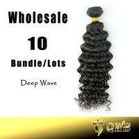 Wholesales 12''~28'  Deep Wave Queen Weave Beauty Cuticle Intact Hair