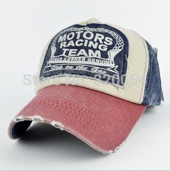 , 1pcs, 2014 Модный spring baseball cap, Хлопок motorcycle cap edge grinding do old ...