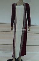 YA08 Ladies Womens Beautiful Elegant Islamic Wear Abaya Jilbab Hijab Muslim Dress,long sleeve