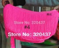 20cm long Nylon Fringe tassel lace Pink for latin dress trims applique trimming red green18-20CM