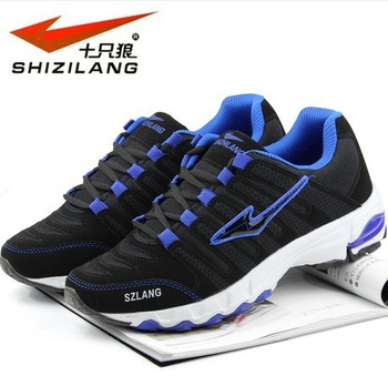 High Quality PU and mesh breathable men sports shoes and net surface running shoes athletic shoes with EUR 36-44 free shopping