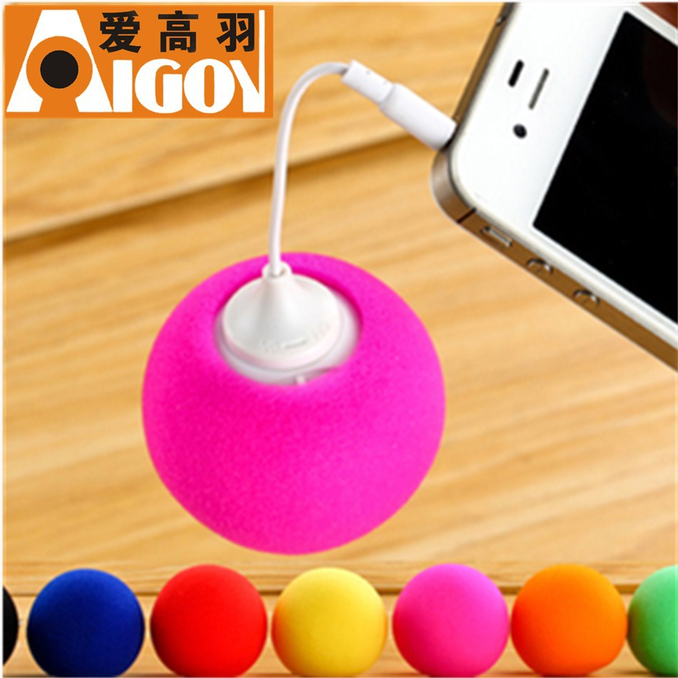 2013 New Arrival!! Hot Sale! Promotion!! 3.5MM Colorful Portable Mini Ballon Speaker for Mobile phone/PC Nice Gift for friends(China (Mainland))
