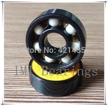 mejor- venta de cerámica híbridos pro ennegrecer 608 rodamientos para carreras de velocidad patín en línea monopatín longboard abec- 7 zro2 bolas(China (Mainland))
