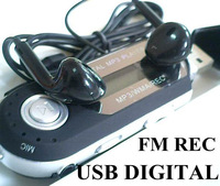 Free ship USB Digital MP3 music Player with Equalizer/FM/Voice Recorder/Telbook+$3 earphoneas card reader mp 3,the misic from PC