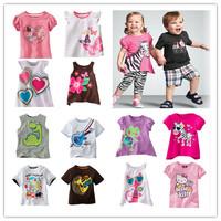 [ 0-2T ] Brand 2014 Summer Fashion Boy Baby Girls  T shirt Children Clothing  Cotton Tops Kids Clothes Short Sleeves RB01